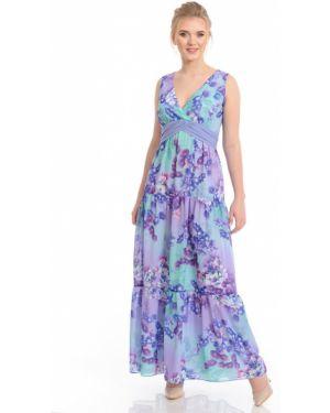 Платье макси с декольте с цветочным принтом Merlis