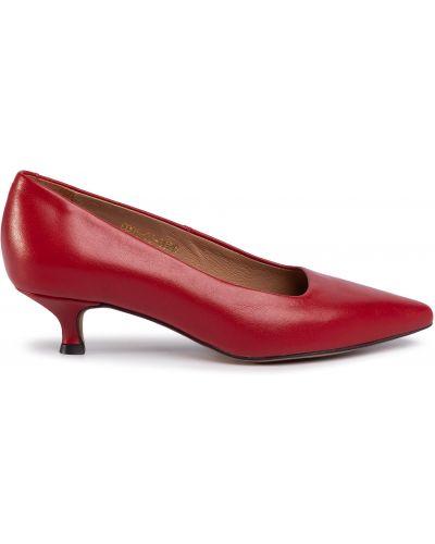 Туфли на каблуке - красные R.polański