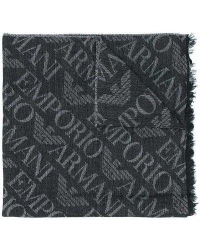 Czarny szalik Emporio Armani