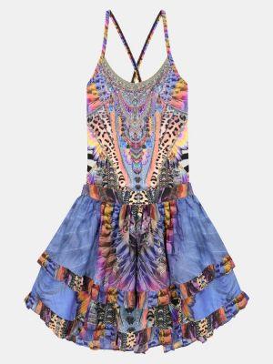 Bawełna jedwab niebieski spódnica Camilla Kids