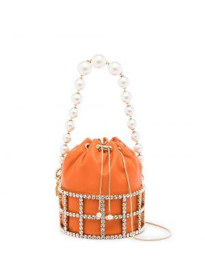Pomarańczowa torebka skórzana Rosantica