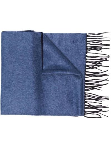 Синий шелковый шарф Corneliani