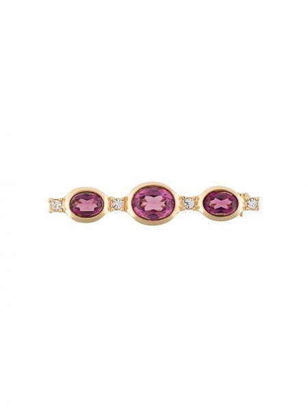 Broszka fioletowy kryształ Christian Dior Pre-owned