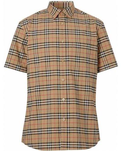 Beżowa koszula bawełniana zapinane na guziki Burberry