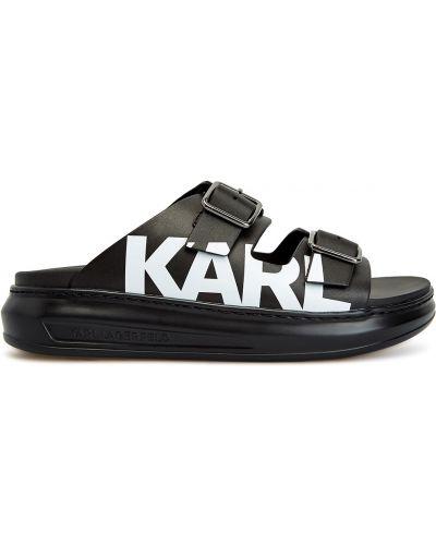 Черные кожаные сандалии Karl Lagerfeld