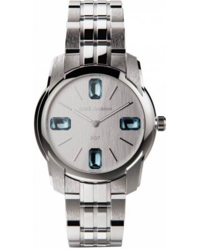 Со стрелками серебряные часы круглые Dolce & Gabbana