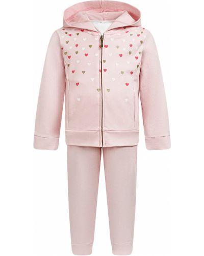 Костюмный хлопковый розовый спортивный костюм Mayoral