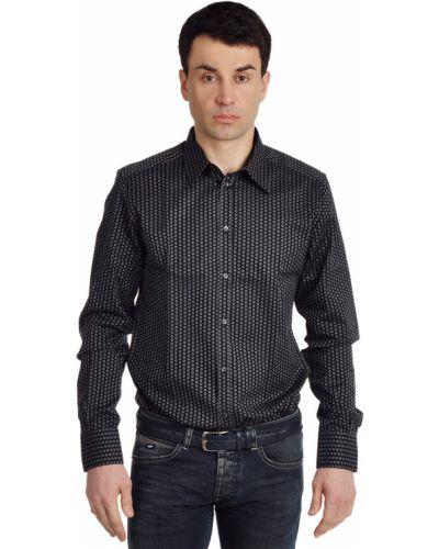 Хлопковая рубашка - черная Dolce & Gabbana