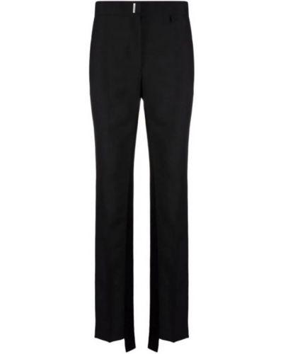Satynowe spodnie - czarne Givenchy