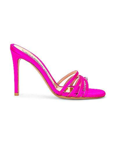 Кожаные стринги - розовые Alexandre Vauthier