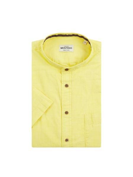 Koszula krótkie z krótkim rękawem codziennie z kieszeniami Montego