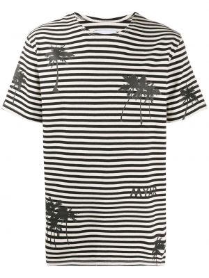 Czarny t-shirt w paski bawełniany Myar