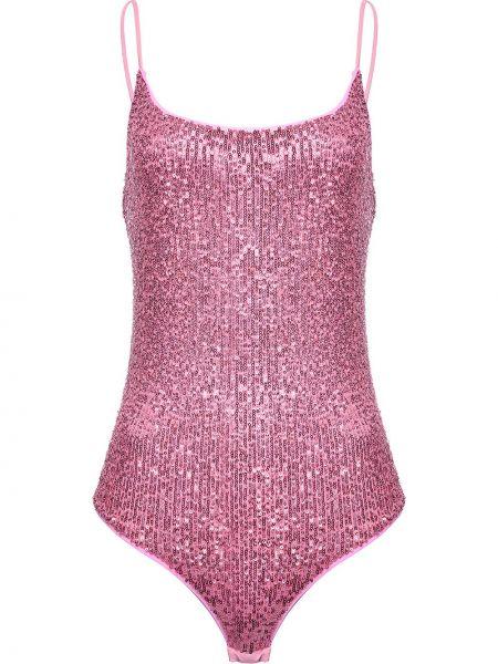 Klasyczny różowy garnitur bez rękawów Pinko
