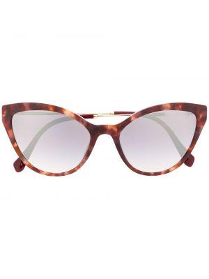 Коричневые золотистые солнцезащитные очки Miu Miu Eyewear