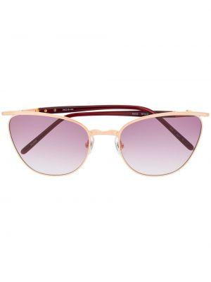 Złote różowe okulary Matsuda