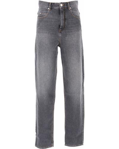 Czarny bawełna bawełna jeansy na wysokości Isabel Marant