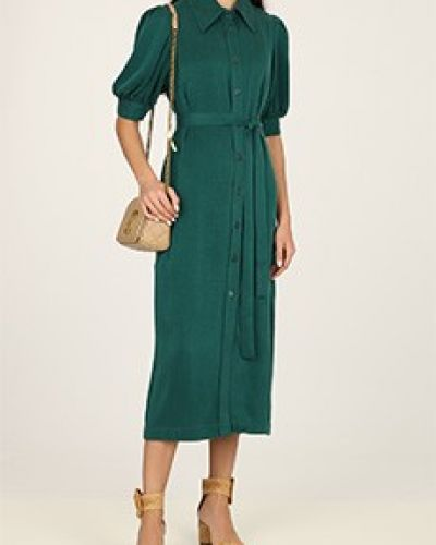 Платье из вискозы - зеленое Poustovit