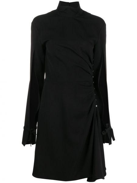 Черное открытое платье мини с открытой спиной с воротником Opening Ceremony