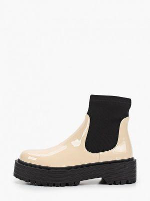 Кожаные ботинки - бежевые Diora.rim