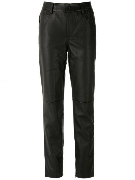 Spodni czarny klasyczne spodnie z kieszeniami z mankietami Eva