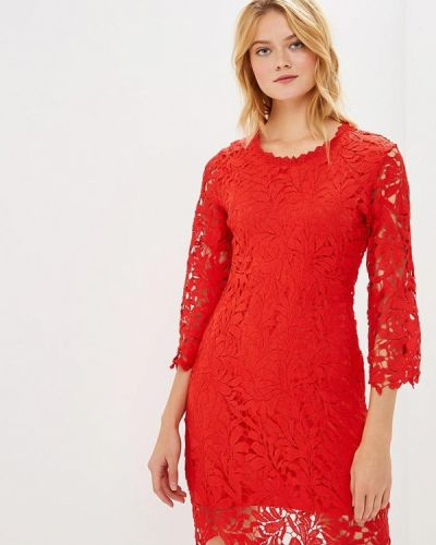 Вечернее платье осеннее красный By Swan