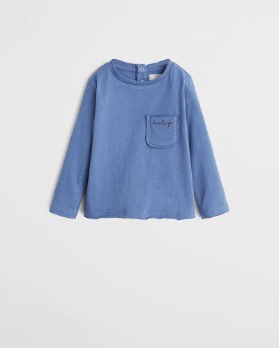 Блуза синий с карманами Mango Kids