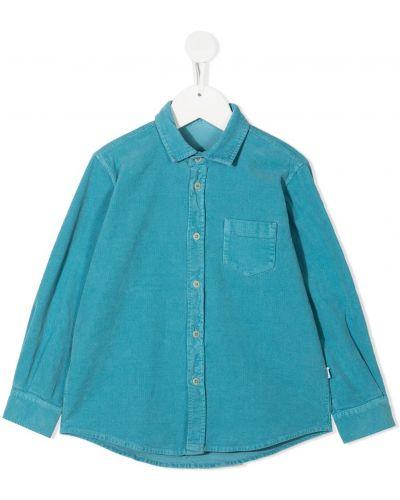Klasyczna niebieska klasyczna koszula bawełniana Il Gufo