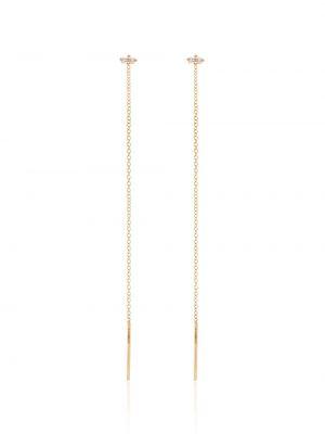 С ромбами золотистые желтые серьги-гвоздики с бриллиантом Lizzie Mandler Fine Jewelry