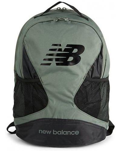 Текстильный открытый зеленый рюкзак New Balance