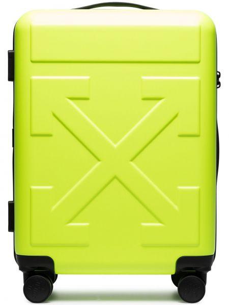 Żółty walizka Off-white