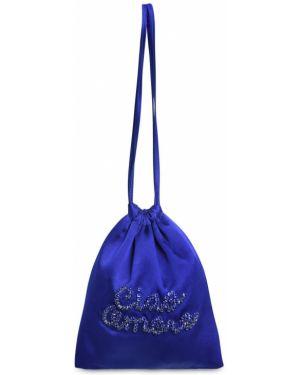 Satynowa niebieska torebka Giada Benincasa