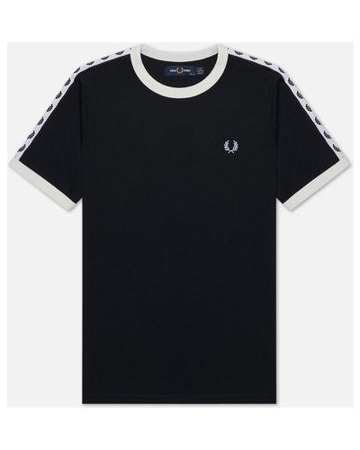 Прямая хлопковая спортивная футболка с воротником Fred Perry