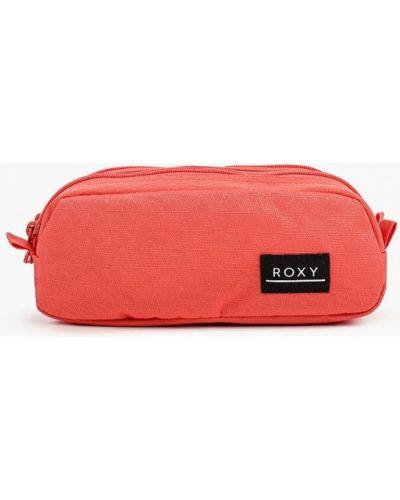 Текстильная красная косметичка Roxy