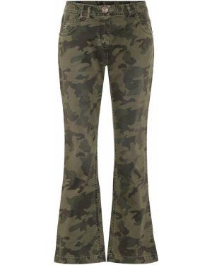 Свободные брюки расклешенные камуфляжная Balmain