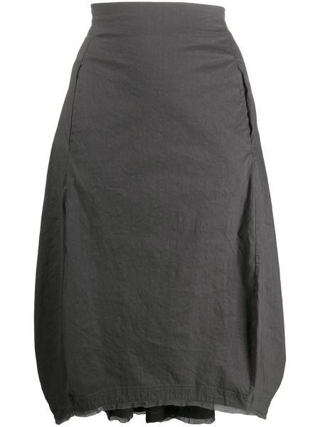 Хлопковая юбка миди - серая Rundholz