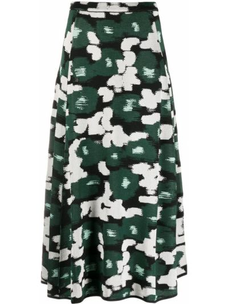 Зеленая шерстяная с завышенной талией юбка Christian Wijnants