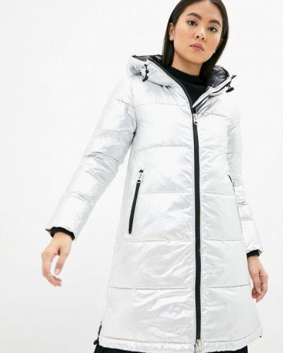 Серебряная утепленная куртка Calvin Klein