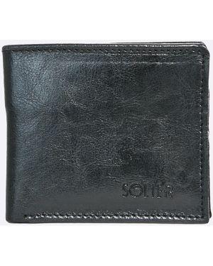 Czarny portfel skórzany Solier