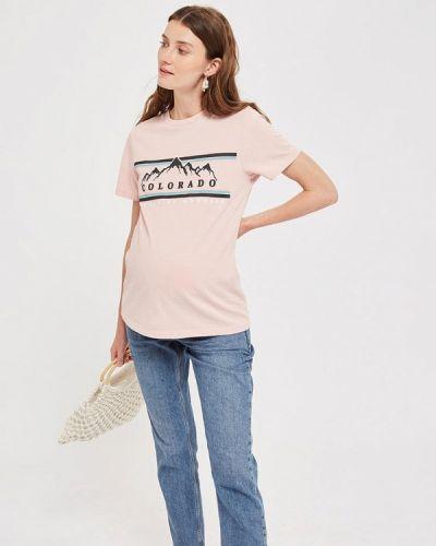 Розовое поло турецкое Topshop Maternity