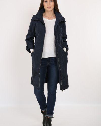 Синее пальто свободное Finn Flare