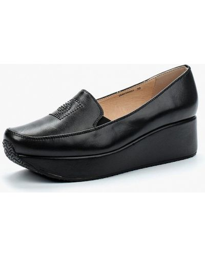 Кожаные туфли на каблуке Pierre Cardin