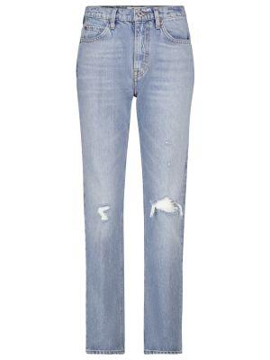 Prosto bawełna niebieski bawełna jeansy Re/done