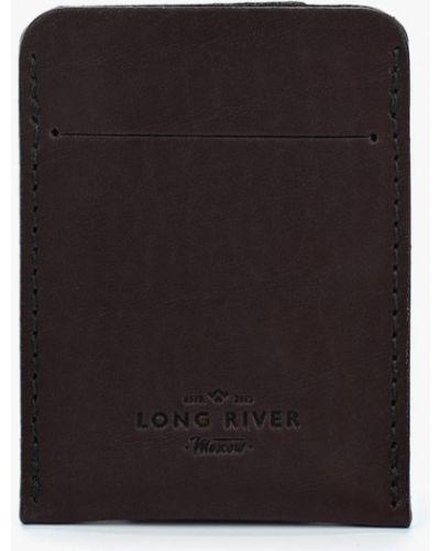 Коричневая визитница Long River