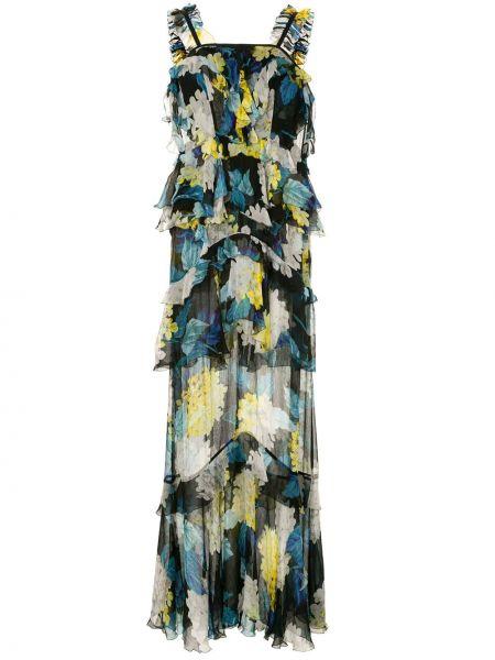 Платье макси с цветочным принтом на молнии Alice Mccall