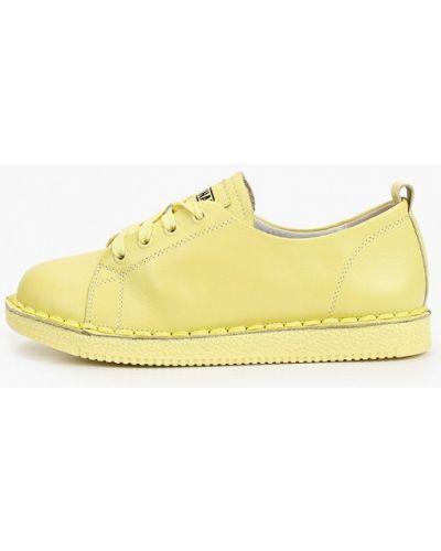 Желтые кожаные ботинки Ridlstep