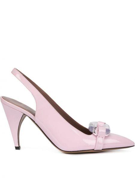 Кожаные с ремешком розовые кожаные туфли Rayne