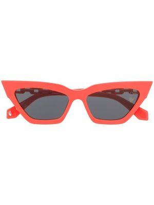 Pomarańczowe okulary z printem Off-white