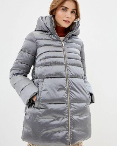 Серебряная теплая куртка Madzerini