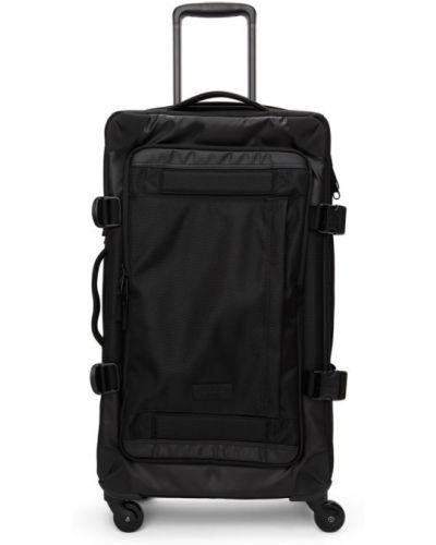 Черный чемодан из канваса двусторонний Eastpak