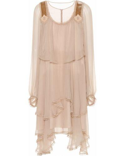 Платье макси шелковое Chloé